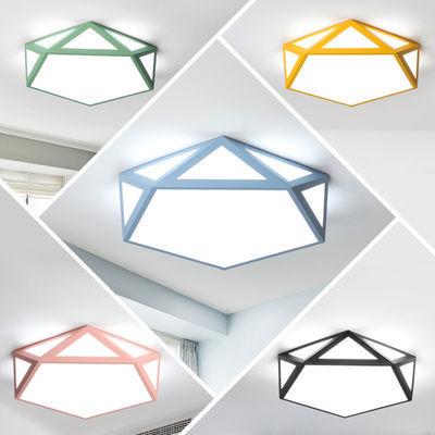 北欧LED马卡龙卧室吸顶灯简约现代 创意个性客厅主卧儿童房间灯具