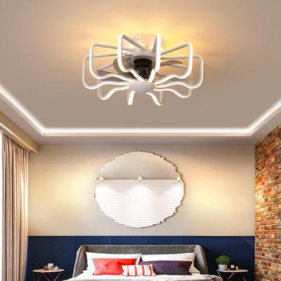 风扇灯现代简约负离子餐厅卧室书房儿童家用一体超薄侧发光吊扇灯