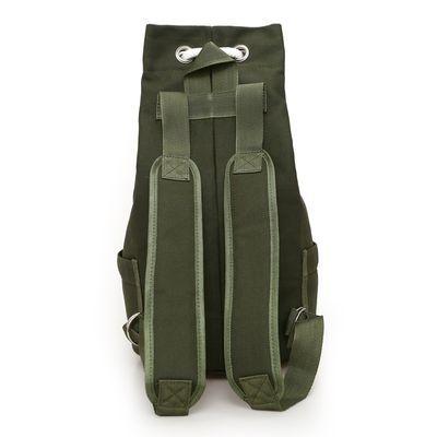 大容量帆布水桶篮球双肩包新款运动健身包男包休闲户外水桶包背包