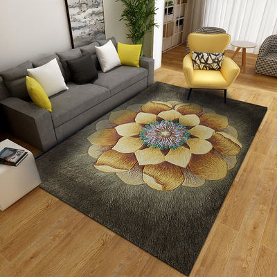 3D欧式客厅沙发茶几房间卧室满铺床边家用ins风地毯入户门口地垫