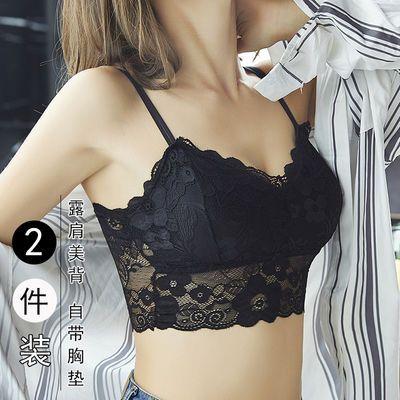 蕾丝裹胸内衣女学生韩版高中生吊带小背心打底防走光抹胸上衣外穿