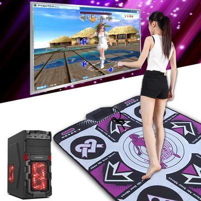 康丽中文高清单人跳舞毯电脑加厚支持下载运动减肥跳舞机家用包邮