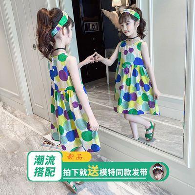 女童夏装连衣裙儿童夏季新款韩版无袖公主裙中大童夏款裙子
