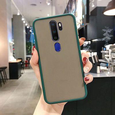OPPOa11手机壳男女网红防摔新款A11X磨砂透明撞色全包硬壳硅胶潮