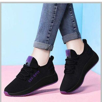 运动鞋2020春夏秋季新款休闲百搭女士网鞋透气软底平底学生女鞋子