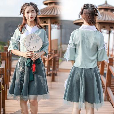 古风汉元素服饰日常改良古装汉服夏女雨信绣花半裙套汉服女仙女裙