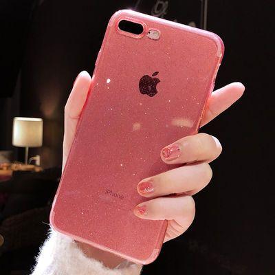 苹果7plus/11手机壳透明8p/6s硅胶闪粉iPhonexr软xs套max网红x女8