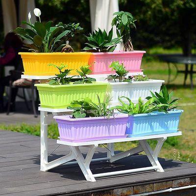 阳台蔬菜种植箱家庭庭院种花种菜长方形花盆无毒无味加厚特大花盆