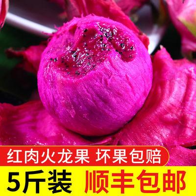【顺丰包邮】5斤火龙果红心批发 新鲜水果应季热带水果 现摘现发