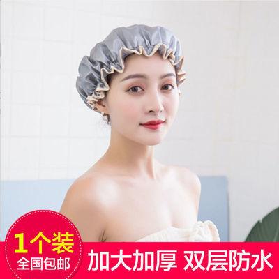 双层加厚防水成人女款浴帽厨房帽子防尘防油烟头套洗头洗澡干发帽