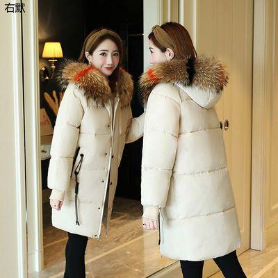 【右默】棉衣女中长款韩版加厚大码棉服外套学生宽松面包服
