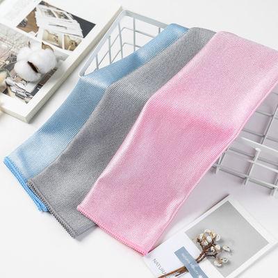 3条装高档擦玻璃布家政保洁抹布擦桌布玻璃布不掉毛无水印酒杯布