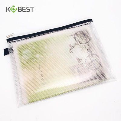 袋透明网格票据袋A5拉边袋防水文件袋康百学生考试笔袋多功能拉链
