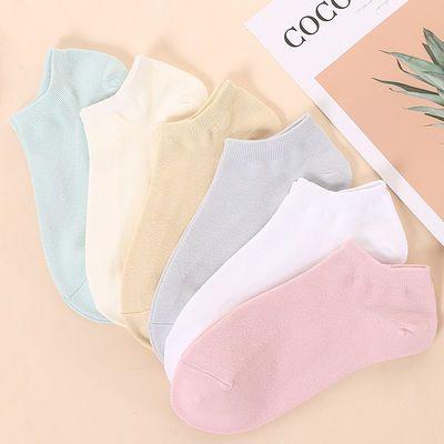 100%袜子女夏季薄款纯棉船袜女花边浅口短袜网孔透气隐形女袜子