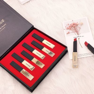 【一盒6支】小金条口红套装哑光雾面唇膏口红学生不掉色网红同款