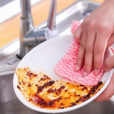 懒人一次性洗碗布抹布抖音赖人厨房纸可水洗的麻布干湿两用家用洗