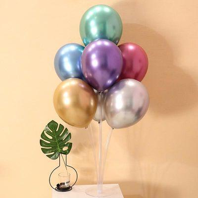 金属气球多杆桌飘创意儿童周岁告白气球婚房装饰生日派对布置