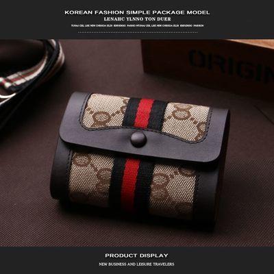片包套放卡夹帆布卡包女式牛皮包边男女士款式布艺卡包多卡位名