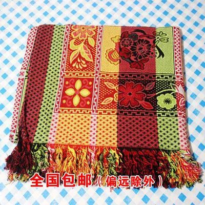 厂家直销包邮老式八色线毯春秋薄空调床单毯随身沙发巾彩色床单