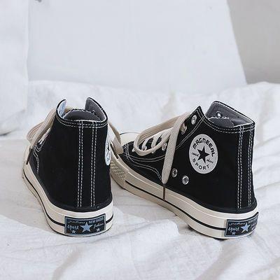 帆布鞋高帮男女潮流经典款1970S休闲板鞋低帮半拖平跟时尚帆布鞋