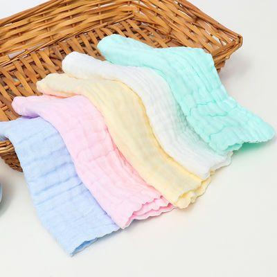 手帕手绢纱布口水巾纯棉 婴儿洗脸毛巾新生儿用品宝宝小方巾儿童