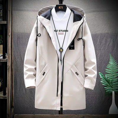 秋冬季外套男中长款夹克男士外套潮流休闲上衣服韩版修身风衣男装
