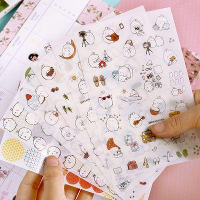 手机装饰帐小贴画胶带卡通手账贴纸手帐工具素材本套装少女心可爱