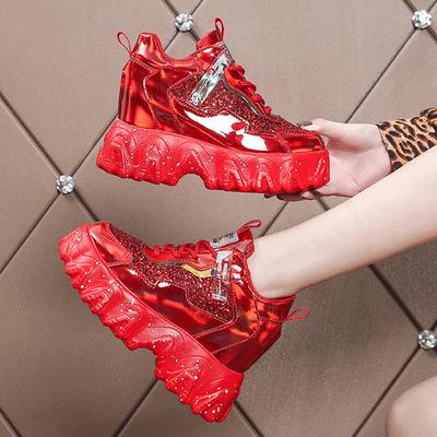 网红老爹鞋女ins潮2020春季新款厚底内增高智熏鞋超火高跟运动鞋