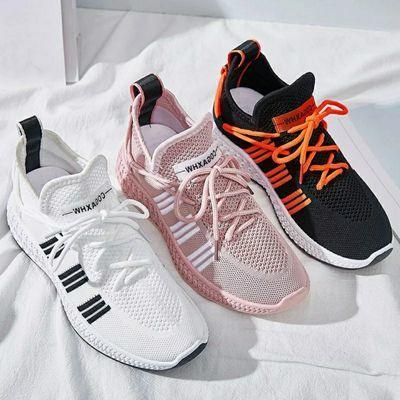 2020夏季新款百搭飞织袜子女鞋透气运动鞋女韩版学生休闲鞋女