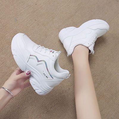 运动鞋女2019新款夏季网鞋韩版小白鞋夏天网面休闲鞋子透气内增高