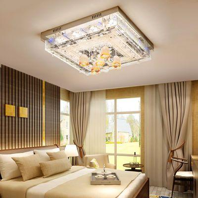 家居11740美奂照明 卧室灯温馨浪漫简约水晶LED吸顶灯正方形客厅