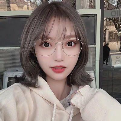 防辐射防蓝光平光镜网红复古眼镜框近视眼镜女有度数成品近视镜潮