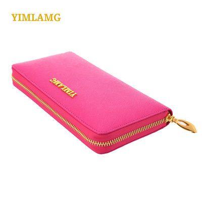 女士钱包真皮钱包女长款真牛皮拉链包手拿包时尚大容量网红手机包