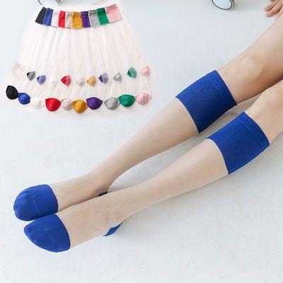 丝袜女小腿袜夏季薄款长袜玻璃丝透明水晶袜ins风网红潮袜中高筒