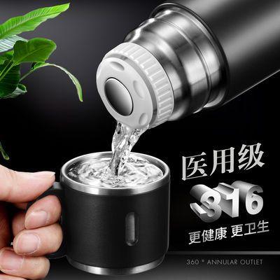 新款316不锈钢保温杯高档大容量保温杯男女商务便携带杯子盖水杯