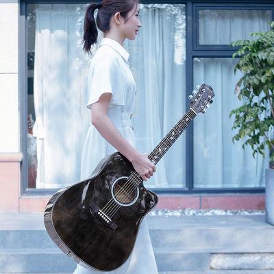 【可选顺丰配送】初学者38寸41寸民谣单板吉他新手练习吉它男女学