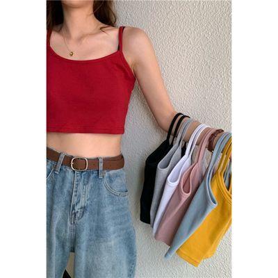 大码吊带背心女打底衫短款小背心吊带衫修身性感内搭裹胸内衣女
