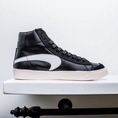 开拓者板鞋Blazer高帮低帮休闲鞋帆布学生流行运动鞋翻毛皮男女鞋
