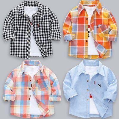 男童格子衬衫春装 2020春新款儿童长袖衬衫 男宝宝纯棉衬衣衫9806