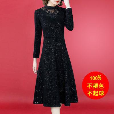 2020新款连衣裙蕾丝大码女装200斤春秋收腰显瘦时尚气质夏季裙子