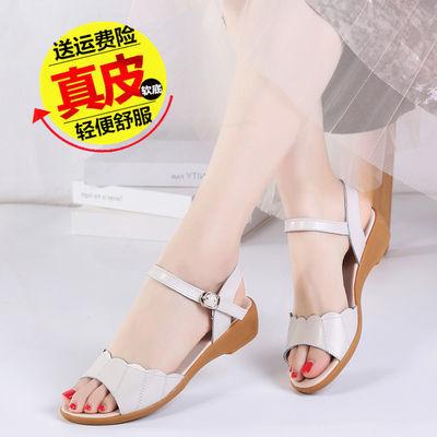 2020新款夏季凉鞋女真皮平底鞋防滑时尚韩版仙女风外穿百搭妈妈鞋