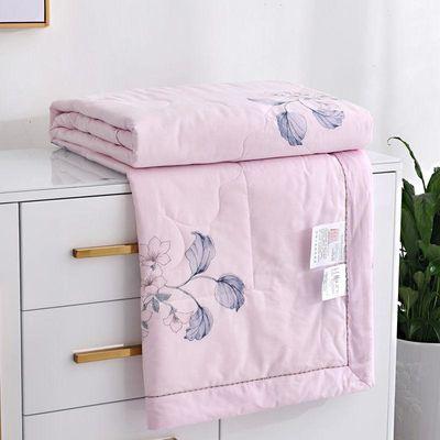 全棉空调被纯棉夏凉被双人学生单人薄被子可机洗棉花夏被春秋冬被