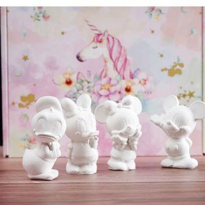 彩绘石膏娃娃儿童玩具男孩小女孩diy手工制作礼物材料包上色模具