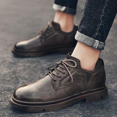春季复古小皮鞋男透气英伦风潮流百搭男士休闲工装马丁鞋低帮短靴