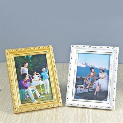 实木欧式相框摆台5678101216寸儿童照片个性创意a4挂墙画框