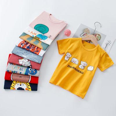 夏季新款男童短袖T恤儿童宝宝莱卡棉上衣 舒适打底衫中大童宽松