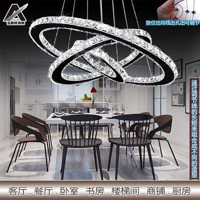 新款led吊灯餐厅客厅卧室水晶吊灯具简约创意家用别墅大厅吊灯饰