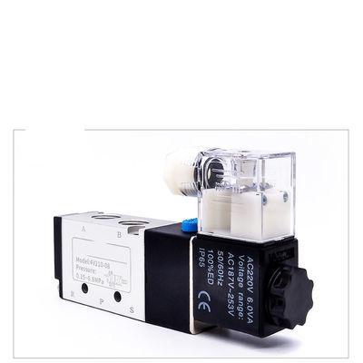 气动电磁阀4V210-08二位五通24V气缸换向220V亚德客型电磁控制阀