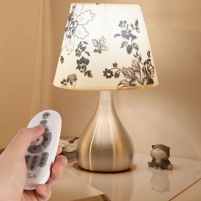 床头灯卧室浪漫温馨简约现代创意家用触摸感应装饰可调光遥控台灯