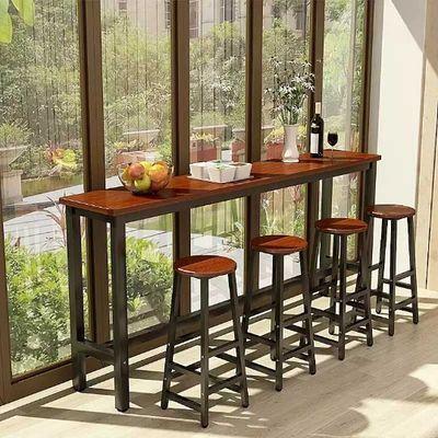 啡桌靠墙吧台桌简约家用客厅小吧台现代长条桌窄桌奶茶店高脚桌咖